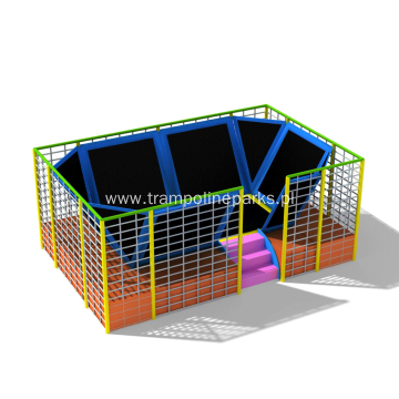 Indoor Trampoline Jumping Play